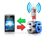 3G ασύρματη έννοια επικοινωνίας Απεικόνιση αποθεμάτων