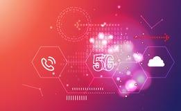 5G αφηρημένη απεικόνιση τεχνολογίας Στοκ εικόνα με δικαίωμα ελεύθερης χρήσης
