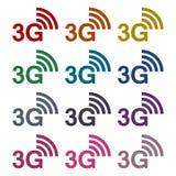 3G εικονίδια καθορισμένα Απεικόνιση αποθεμάτων
