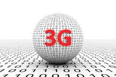 3G εννοιολογική σφαίρα Διανυσματική απεικόνιση