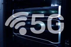 5G голодают концепция технологии беспроволочной связи интернет-связи передвижная иллюстрация штока