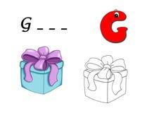 g покрашенный алфавитом Стоковые Фотографии RF
