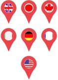 G7 страны положения Pin Стоковые Изображения RF