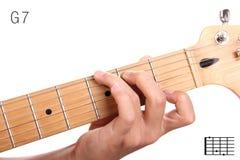 G统治第七个吉他弦讲解 免版税库存图片