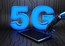 5G - 第五代机动性网络 图库摄影