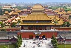 πόλη του Πεκίνου που απα&g Στοκ Φωτογραφίες
