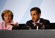 G 20 Preparatory Summit, Berlin. Angela Merkel, Nicolas Sarkozy - G20 Preporatory Summit,  Chanclery, February 22, 2009, Berlin Royalty Free Stock Photo