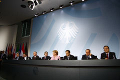 G 20 Preparatory Summit, Berlin Royalty Free Stock Photo