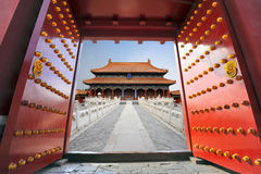 πόλη του Πεκίνου που απα&g Στοκ Εικόνες