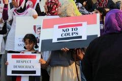 埃及抗议米西索加G 库存图片