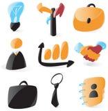 gładkie biznesowe ikony royalty ilustracja