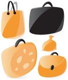 gładkie toreb ikony royalty ilustracja