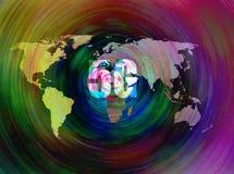 5G AI para mapas do mundo fotografia de stock royalty free