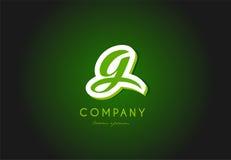 G alphabet letter logo green 3d company  icon design Stock Images