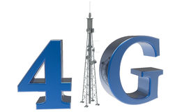 4G antenna concept. Design isolated on a white background Stock Photography