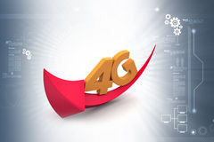 4g with arrow. In color background Royalty Free Stock Photography