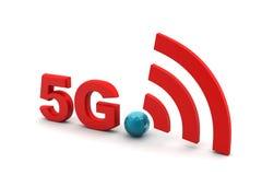 5g avec le signe de réseau Photos libres de droits