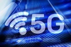 5G ayunan concepto móvil de la tecnología de la comunicación inalámbrica de la conexión a internet imagenes de archivo