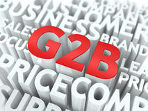G2B. The Wordcloud Concept. Stock Images