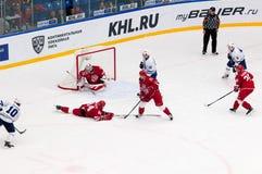 G Berdyukov (84) faller ner Royaltyfri Fotografi