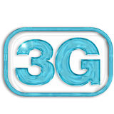 3G blue symbol Royalty Free Stock Images