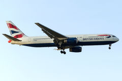 G-BNWX英国航空公司,波音767-336/ER 免版税库存图片