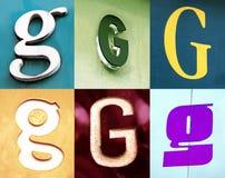 G- brief - de Stedelijke inzameling Stock Fotografie
