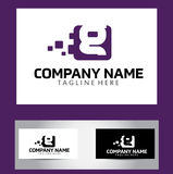 G Brief Logo Design Vector Business Card Royalty-vrije Stock Foto's