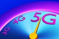 5g Broadband Measurement Speedometer royalty free stock photography