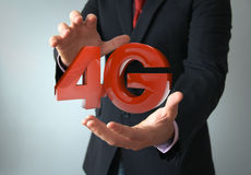4g businessman Royalty Free Stock Image