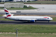 G-BZHC英国航空公司波音767-336 (ER) 免版税库存照片
