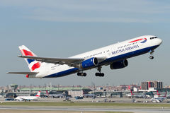 G-BZHC British Airways Boeing 767-336(ER) royalty free stock photos