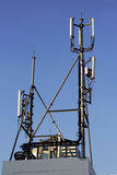 4G Cell site, radio tower or mobile phone base station Royalty Free Stock Photography