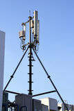4G Cell site, Telecom radio tower or mobile phone base station Stock Photo