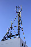 4G Cell site, Telecom radio tower or mobile phone base station. In Thailand Stock Image