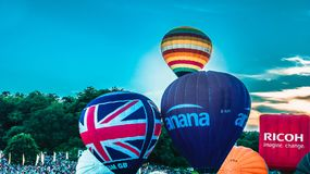G-CFXP balloon ascent Stock Image