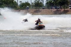 G-chock pro-Jetski turnerar Thailand 2014 Internationa Arkivfoto