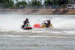 G-chock pro-Jetski turnerar Thailand 2014 Internationa Arkivbilder