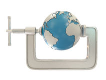 G clamp and Earth Stock Photo