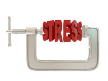 G clamp and text Stress royalty free illustration