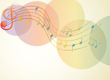 The G-clef and the musical notes Stock Image