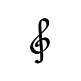 G Clef Symbol Royalty Free Stock Images