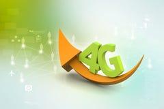 4g com seta Imagem de Stock