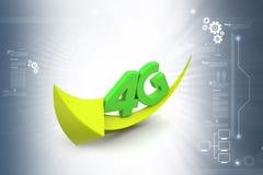 4g com seta Imagem de Stock Royalty Free