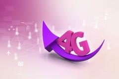 4g con la freccia Immagine Stock
