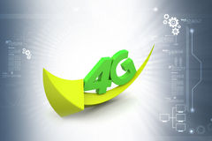 4g con la freccia Immagine Stock Libera da Diritti
