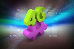 4G, conceito do Internet Imagens de Stock