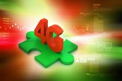 4G, conceito do Internet Imagens de Stock Royalty Free