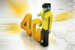 4G, conceito do Internet Imagem de Stock