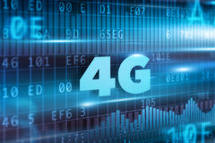4G Concept. With blue background blue text Royalty Free Stock Photos